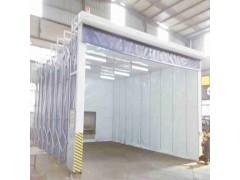 电动伸缩喷漆房 一键遥控节省空间-- 山东新迈节能环保科技有限公司.